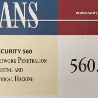 SANS Security 560